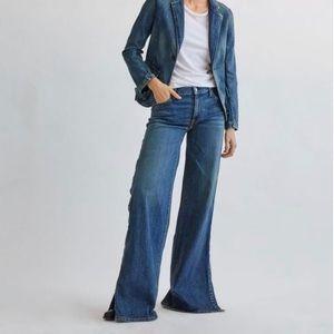 Nili Lotan Ena Mid-Rise Wide leg Jeans Size 26